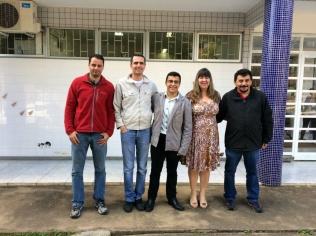 Wilson e os membros da banca de mestrado (Hudson Tomé, Gustavo Martins, Wilson Valbon, Ana Lúcia Salaro e Eugênio Oliveira).