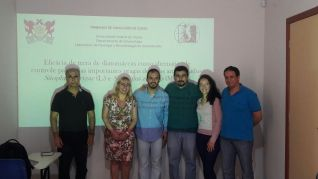 Pedro Toledo and the evaluating committee for his final thesis defense (2016)